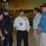 meeting with local businesses- the Edward's Family Shop N' Save team
