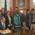 Gov Baldacci signs bill allowing students permission to transport their exchange student to school
