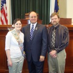 Alyssa Duron & Dad Robert visit the Statehouse