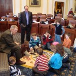 Kidz Kamp visit to the Maine Senate chambers