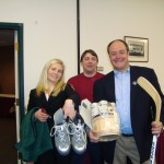 Speaker Hannah Pingree and Sen. Troy Jackson pose at the 2010 LEgislative Auction