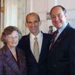 my mother and I stop for a visit with Gov. Baldacci at the Blaine House reception
